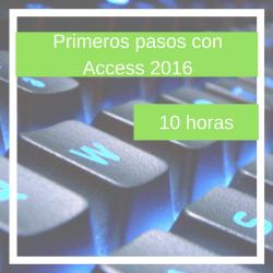 Primeros pasos con Access 2016